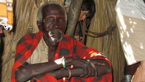 Old Man Man Ethiopia Tribe Arbore