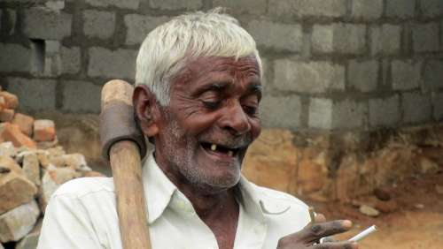 Old Man Toothless Satisfied Indians