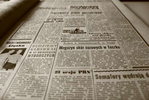 Old Newspaper Newspaper Retro Sepia Old