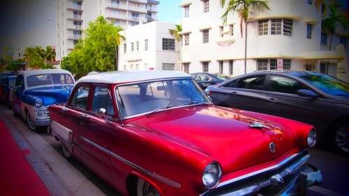 Oldtimer Miami Art Decoration Usa