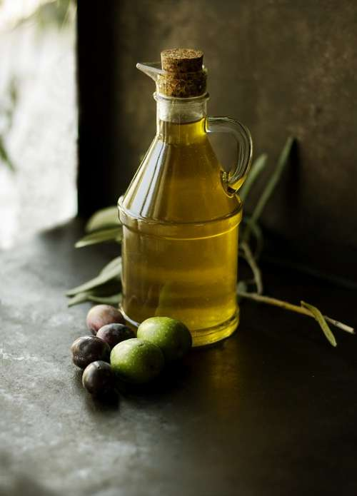 Olive Oil Bottle Color Food Glass Liquid Oil