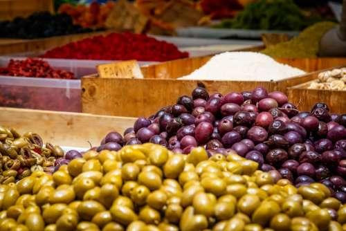 Olives Fruits Mediterranean Fresh Oelfrucht Food