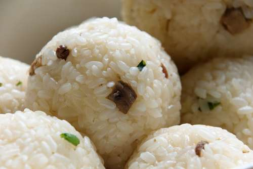 Onigiri Traditional Rice Croquettes A Bowl Of Rice