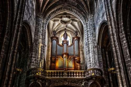 Organ Instrument Cathedral Church Church Organ