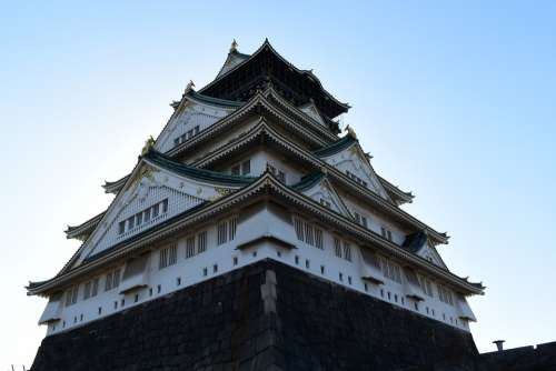 Osaka Castle Osaka Japan Japanese Castle