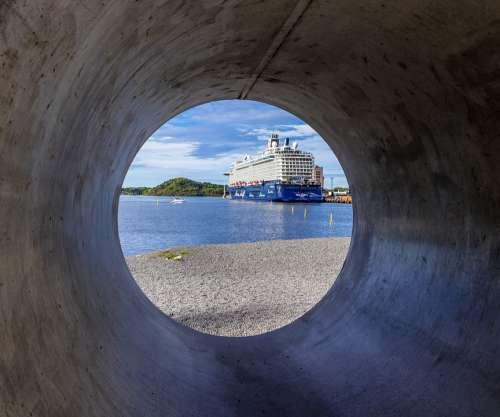 Oslo Ferry Norway Ship Sea Boat Water Sky