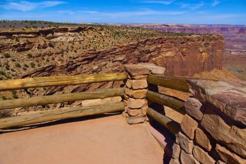 Overlook Fence At Canyonlands