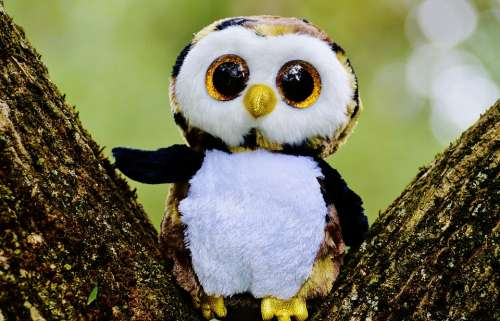 Owl Glitter Stuffed Animal Cute Goggle Sweet