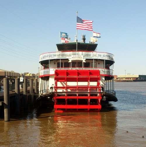 Paddle Steamer Steamship Mississippi New Orleans