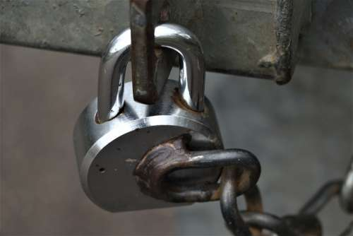 Padlock Chain Security Link Secure