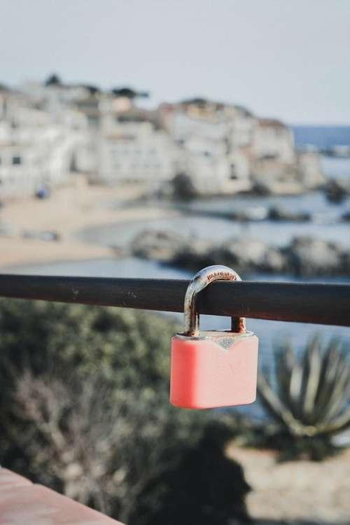 Padlock Love Landscape Mediterranean Romantic