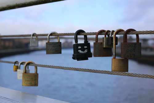 Padlocks Love Padlock Romantic Bridge Symbol