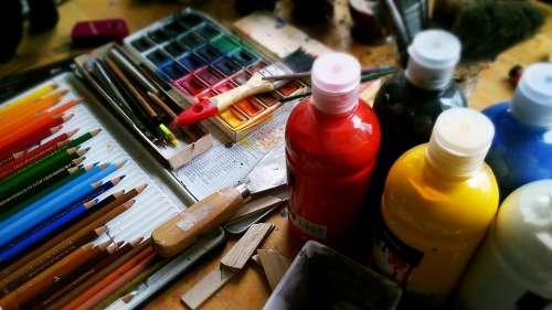 Painting Pencils Pens Watercolour Paint Acrylic