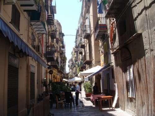 Palermo Sicily Summer Via Church City Chief Town