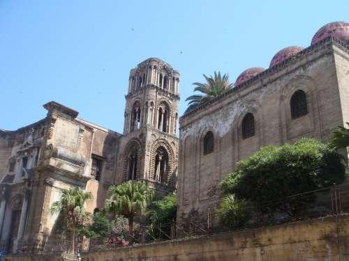 Palermo Sicily Summer Monument Church City