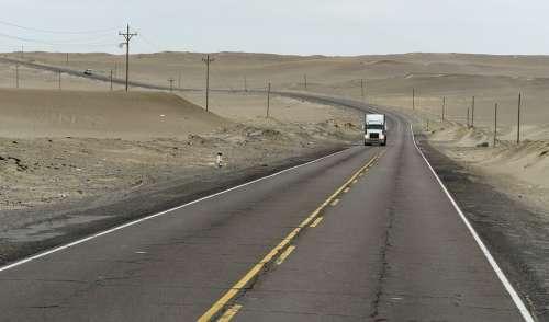 Panamericana Peru Transport Atacama Truck Desert