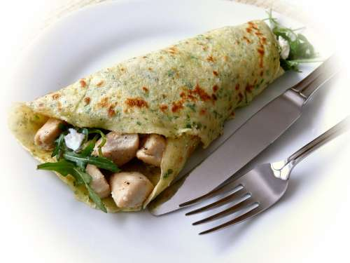 Pancake Crêpes Filled Eat Hearty
