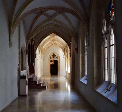 Pannonhalma Monastery Corridor Building Old