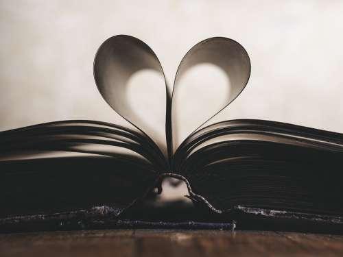 Paper Romance Symbol Valentine Love Book Open