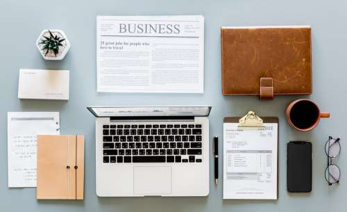Paperwork Accounting Application Business Computer