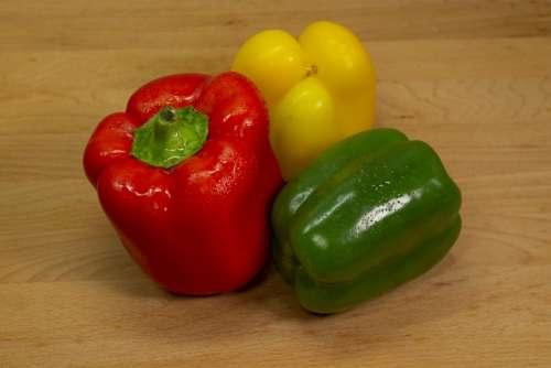 Paprika Red Salad Eat Cook Food Vegetables