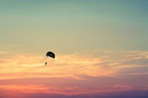 Parasailing Paragliding Sky Fly Leisure Freedom
