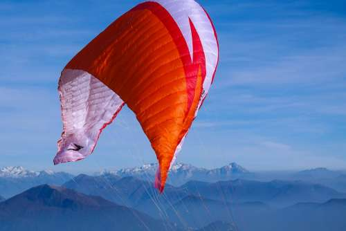 Paragliding Mountains Sky Sport Leisure Active