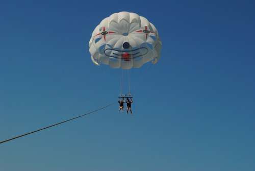 Parasailing Summer Sun Action Flying Parachute