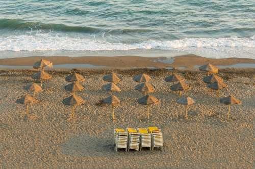 Parasols Beach Andalusia Spain