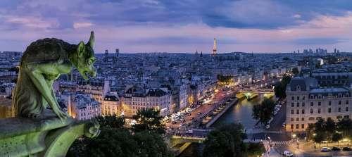 Paris Gargoyle France Architecture Buildings