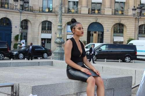 Paris France City Place Vendôme Girl