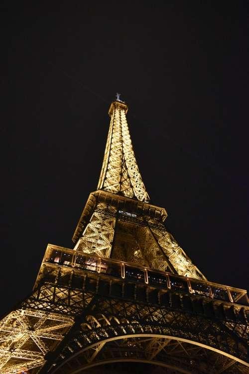 Paris France Tower City Monument Travel Symbol