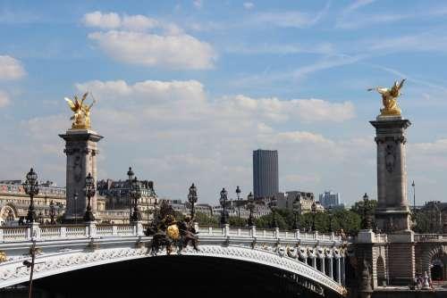 Paris France City Bridge Famous