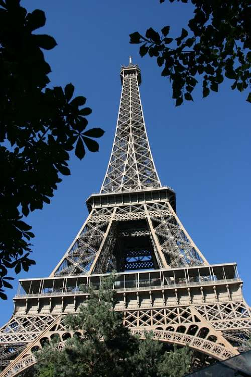 Paris Tour Eiffel Attraction France Romantic Vista