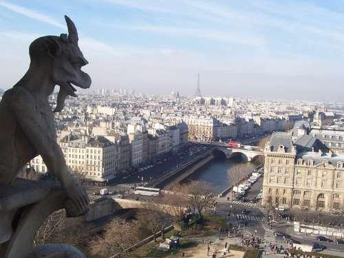 Paris France City View Notre Dame Cathedral