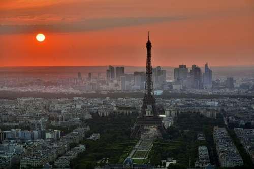 Paris Eiffel Tower France French La Defense City