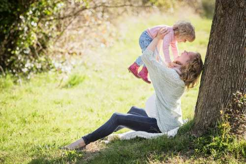 Park Mother Girl Mama Child Toddler Landscape