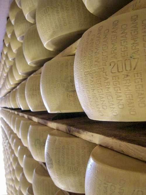 Parmesan Cheese Stock Italy Food Parmesan Cheese