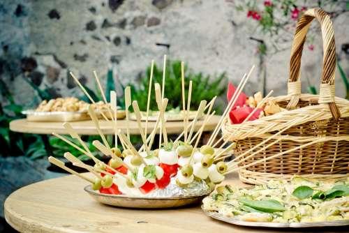Party Skewers Chunks Table Mozzarella Celebration