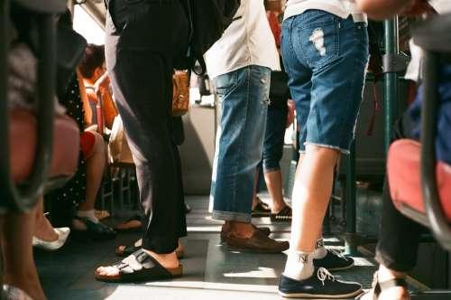 Passengers Tain Tram Bus Subway Underground