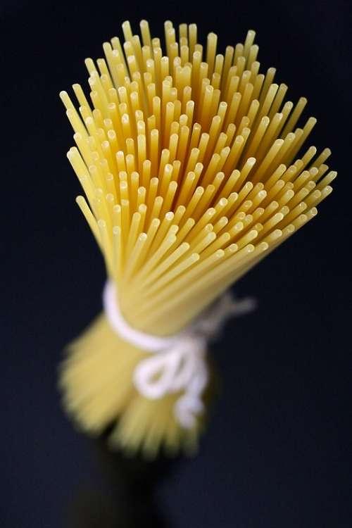 Pasta Spaghetti Raw Food Italian Cuisine Kitchen