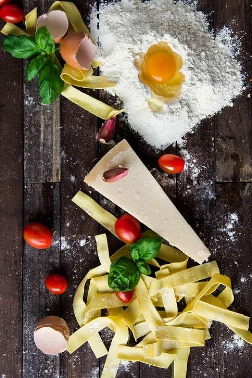 Pasta Cheese Egg Food Italian Cuisine Meal