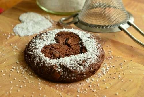 Pastries Bake Sweet Brownie Icing Sugar Baked
