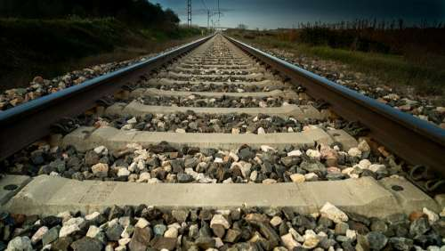 Pathways Path Railway Transport Rails