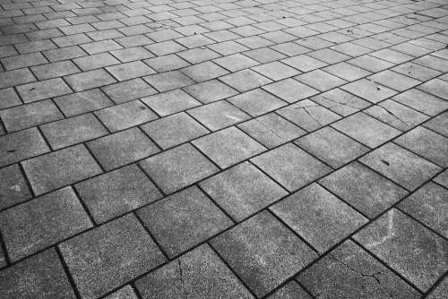 Pavement Paving Sidewalk Tile Gray Tile Concrete