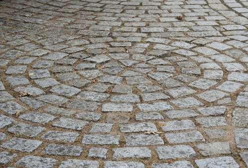 Pavers Road Roadway Stones Soil