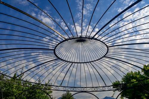 Pavilion Sky Clouds Architecture Garden Park