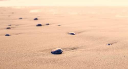 Pebbles Sand Beach Rounded Shape Stone Nature