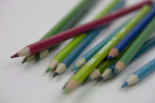 Pencil Colour Color School Education Colorful