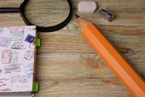 Pencil Notebook Office Desk